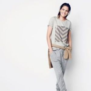 J.Crew Sequin Chevron Grey Stripe T-Shirt